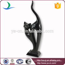 High Quality Wholesale Lovely Black cat Ceramic Home Decor