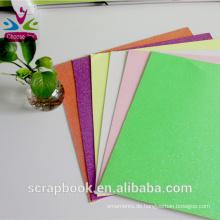Großhandel bunten Handwerk Glitter Cardstock für cardmaking
