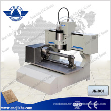3d Mini Cnc Router with 80mm cylinder axis/3030 small cnc engraving machine