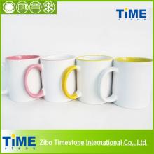 Tasse de sublimation en céramique couleur-intérieure (7102DC)