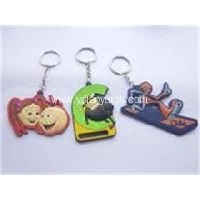 Cartoon Character 2D/3D Keychains Custom For Decoration