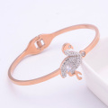Bracelet à breloques Flamingo en cristal or rose simple