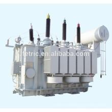 Triphasé huile immergé type cuivre enroulement enroulé base faible perte 35kv 66kv 110kv 132kV 220kV 21.6mva transformateur de puissance