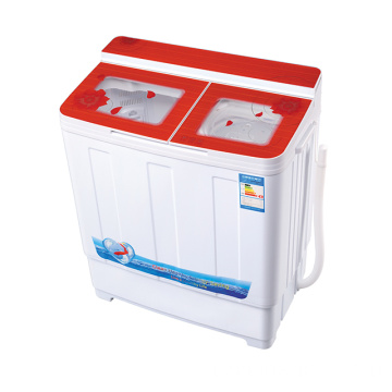 Red Glass Cover 6KG Twin Tub Mesin Cuci
