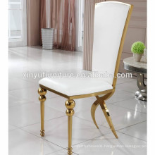 White leather stainless steel wedding chair XYN2802