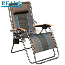 Cadeira dobrável de tecido ao ar livre por atacado gravidade cadeira de salão cadeira de Metal ao ar livre