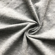 Silver yarn  cotton modal knitting fabric