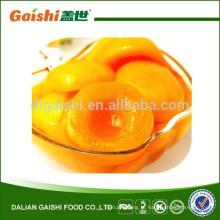 venda diretamente da fábrica pêssego amarelo enlatado, metades enlatadas orgânicas do pêssego