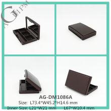 Elegante plástico Rectangular de sombra de ojos caja con espejo AG-DM1086A, empaquetado cosmético de AGPM, colores/insignia de encargo