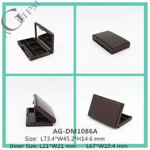 Элегантный пластиковые прямоугольные Eye Shadow дело с зеркало АГ-DM1086A, AGPM косметической упаковки, Эмблема цветов