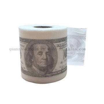 Papel de rolo de toalete feito sob encomenda do tecido do dólar da propaganda criativa para a promoção