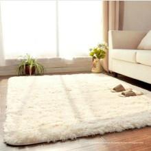 Wohnaccessoires weißer Kunstpelz Seidenteppich für das Wohnzimmer