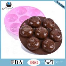 Ronda sonrisa cara ecológica de silicona jabón molde Si22