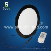 Shenzhen schwarze runde LED Deckenplatte Licht Lampe