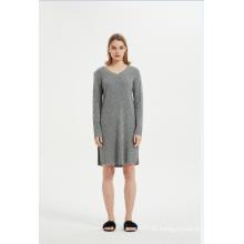 Damen Cashmere Lounge Wear Kleid Nachtwäsche