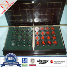 Titanium alloy Chess with wooden chessboard