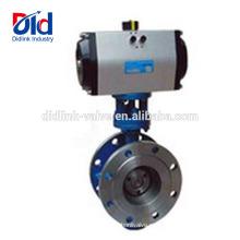 Работающий электрический 4 5 Приводной клапан-бабочка пневматический, клапан-бабочка из углеродистой стали