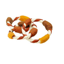 pet products dog chew rawhide with duck/chicken pet chew