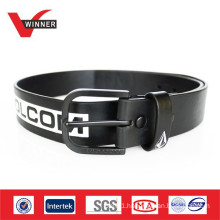 2014 Printed mens black PU belts