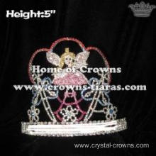 Crystal Butterfly Pageant Crowns With Fairy Angel