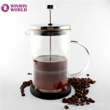 Wholesale FDA Fancy 600ml Double Wall Glass Insulated Coffee Press