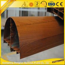 6063 Janela de alumínio de grão de madeira para decoração de interiores