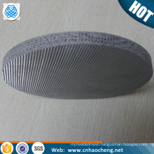 High quality multilayers sintered 1 2 5 8 10 15 20 25 micron stainless steel filter disc