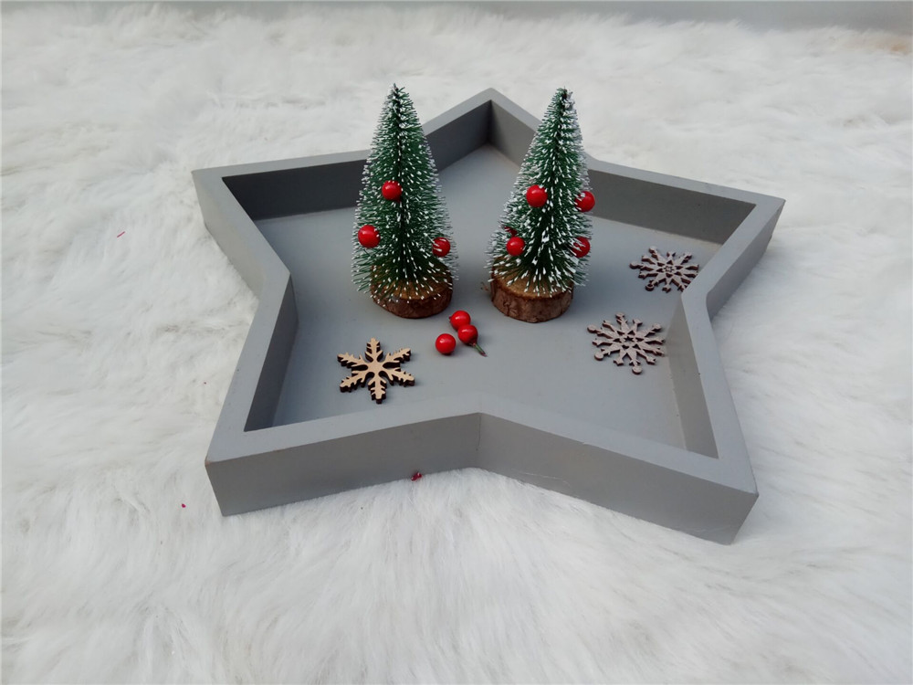 table decoration wooden chirstmas standing