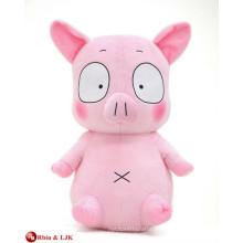 EN71 y estándar ASTM, cerdo de peluche de color rosa