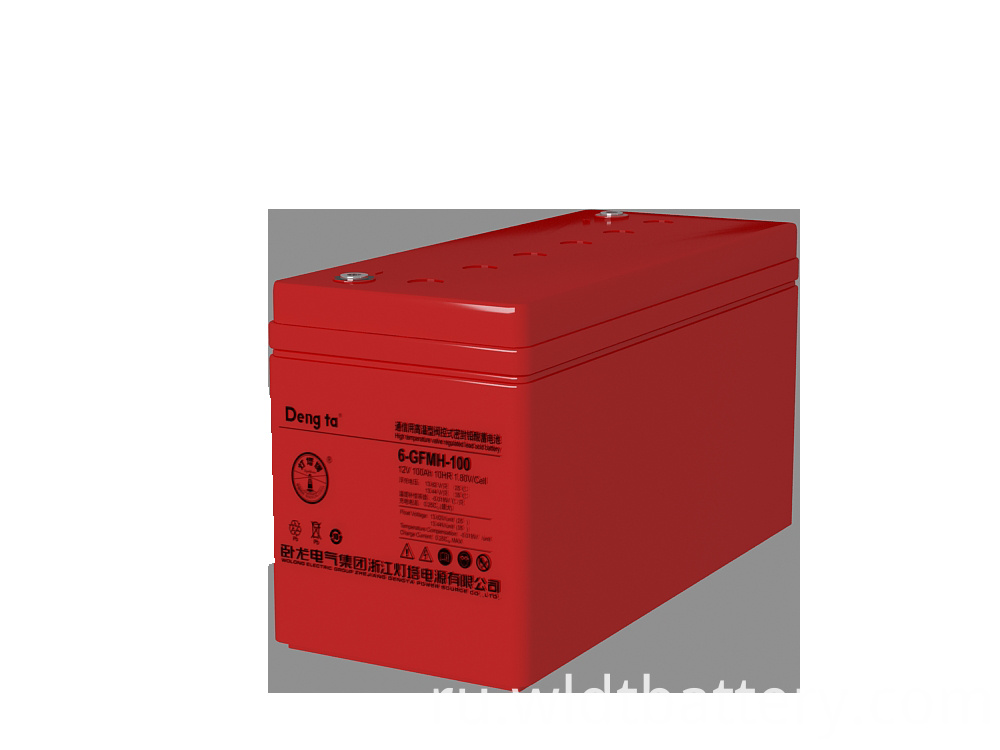 VRLA Battery For High Temperature, High Quality Maintenance Free Battery, 12V 100Ah Lead Acid Battery