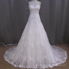 Latest Sweetheart A-line Floor Length Lace Wedding Dress