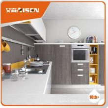Armoires de cuisine en placage de bois classique à haute brillance