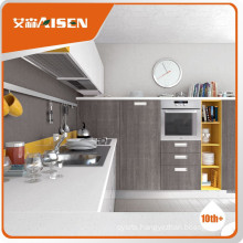 Fully stocked classical high gloss wood veneer kitchen cabinet