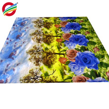 wholesale woven 100% polyester colorful curtain bedding fabric