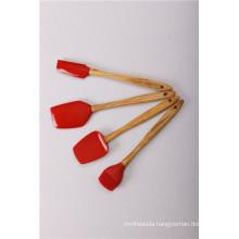 Silicone Spatula/Brush With Olive Wood Handle