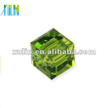 оптовая 6 мм кристалл стеклянный куб бусины 5601#