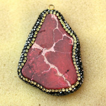 Large Stock Natural Gemstone Stone Red Turquoise Pendant Jewelry