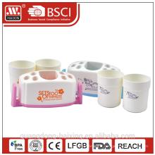 Dent en plastique brosse titulaire w/2 tasses