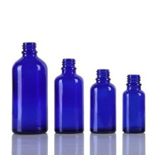 Botella de cristal azul cobalto de 5ml-100ml para el aceite esencial
