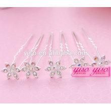 Elegante Damen Blumen Braut Legierung Mode Mädchen Haar Pin
