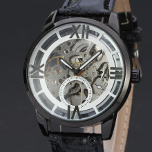 business men watch with skeleton design dial wholesale winner watch