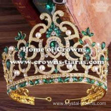 Alloy Crystal Green Diamond Pageant Queen Crowns