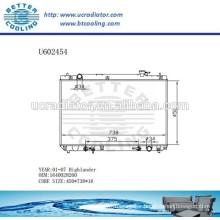 Radiator For TOYOTA HIGHLANDER 01-07 Aluminum 1640028260 Manufacturer and Direct Sale