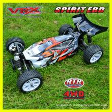 Venta caliente juguete, 1:10 rc coches, buggy eléctrico 4WD, cepillado versión, buenas estructuras.