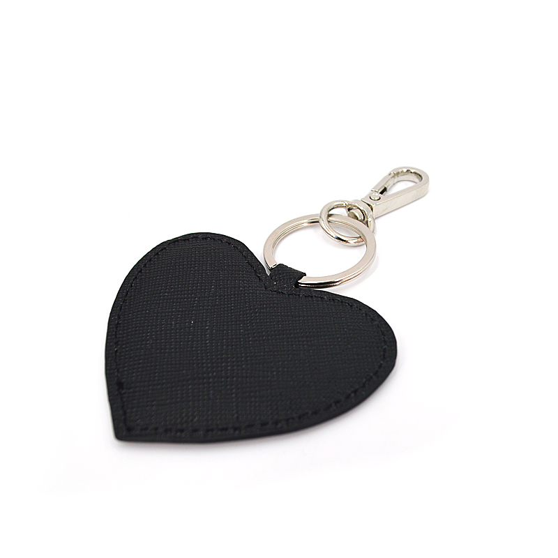 Promotional Cheap Metal Ring Pu leather keychain
