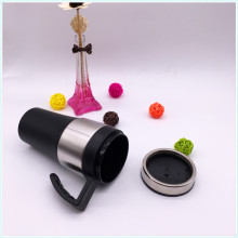 Leakproof Button Lid Double Wall Insulated Mug with Plastic Handle (SH-SC39)