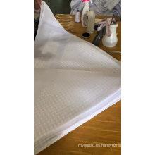 Bufanda Hijab de mantones de malla bordados musulmanes de algodón arrugado