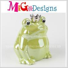 Top Selling Dekoration Frosch geformt Keramik Piggy Bank