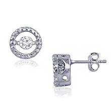 Fashion Diamond Dance Jewelry 925 Silver Stud Earring