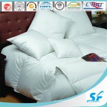 Edredão de penas de ganso 100% branco liso acolchoado hotel (SFM-15-111)